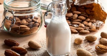 Date-Sweetened Almond Milk Recipe - easy, dairy-free, natural, no sugar added, and healthy