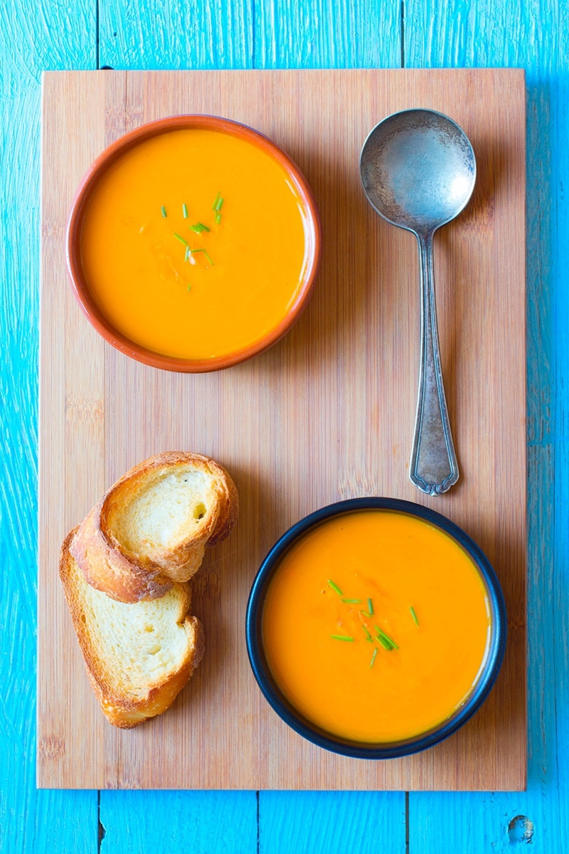22 Healthy Winter Recipes (all dairy-free!) - Golden Butternut Squash Soup pictured