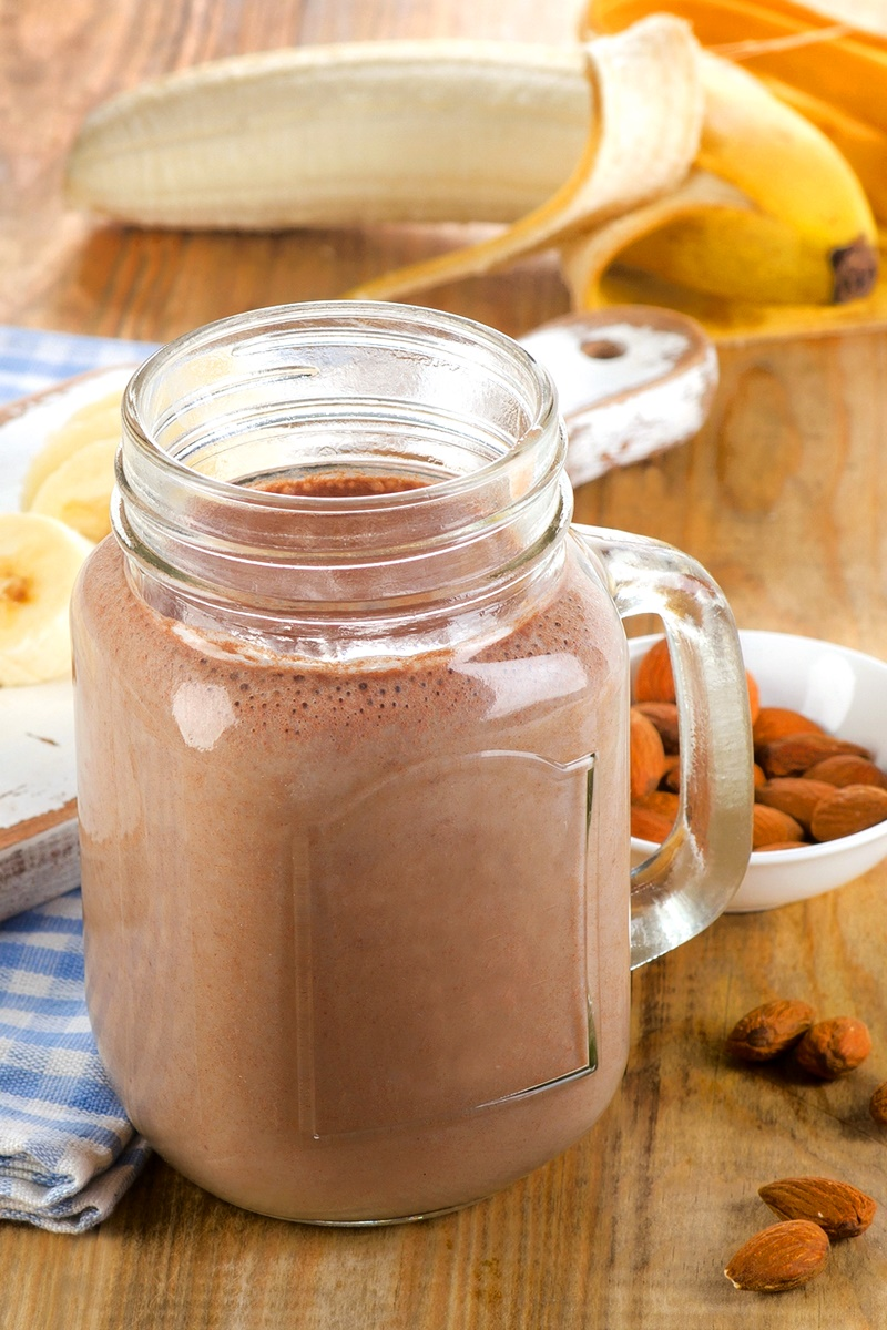 Chocolate Lover's Almond Smoothie Recipe - a dairy-free, vegan, sweet protein shake