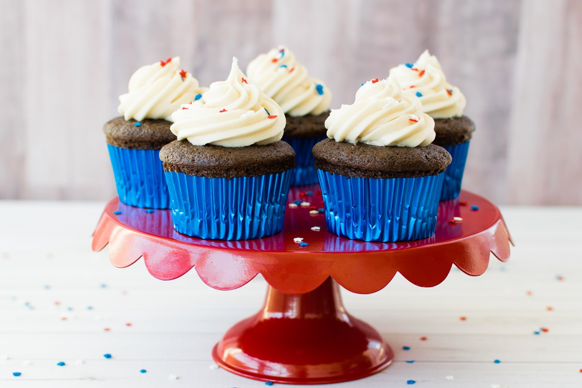 Wacky Vegan Chocolate Cupcakes - The World's Easiest Pantry Recipe (also known as Crazy, Joe, or WW II Cupcakes)