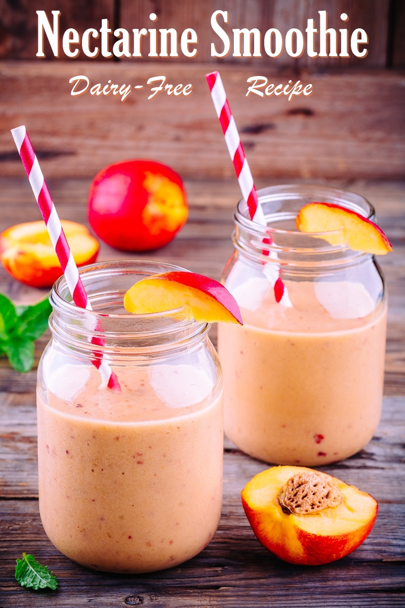 Sunny Nectarine Smoothie Recipe - A fresh and fruity dairy-free summer sip. Vegan, gluten-free, nut-free, and soy-free, too.