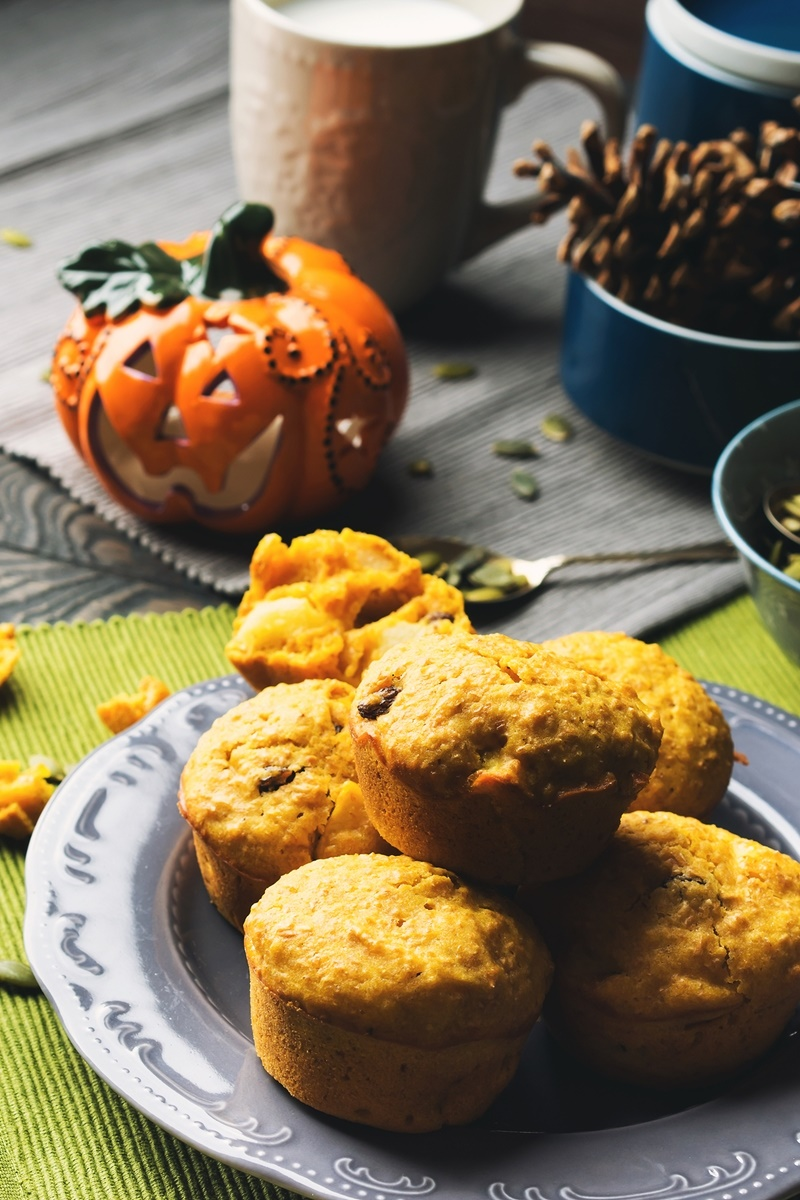 Whole Wheat Pumpkin Raisin Muffins Recipe (Dairy-Free and filled with goodness!)
