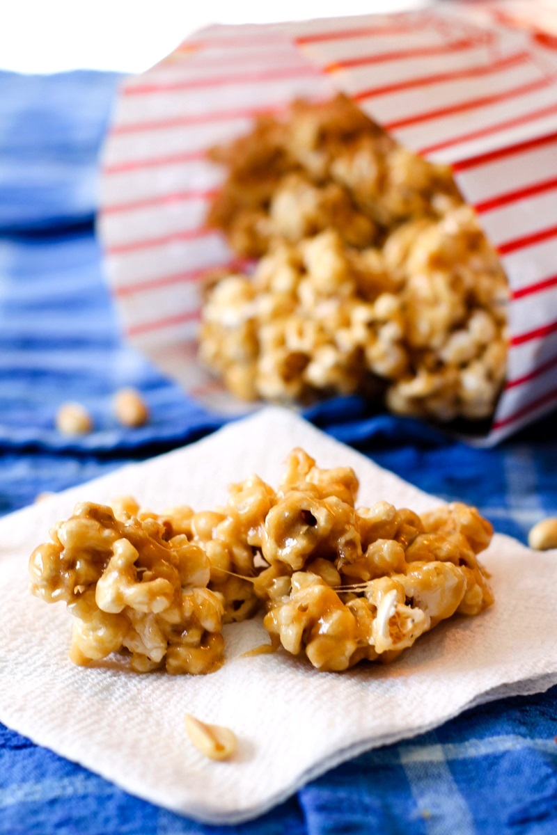 Peanut Butter Popcorn Recipe With Gooey Baked Bar Options Dairy