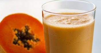 Tropical Papaya Smoothie Recipe - dairy-free, soy-free, and vegan. Cool, sweet, and creamy with coconut.