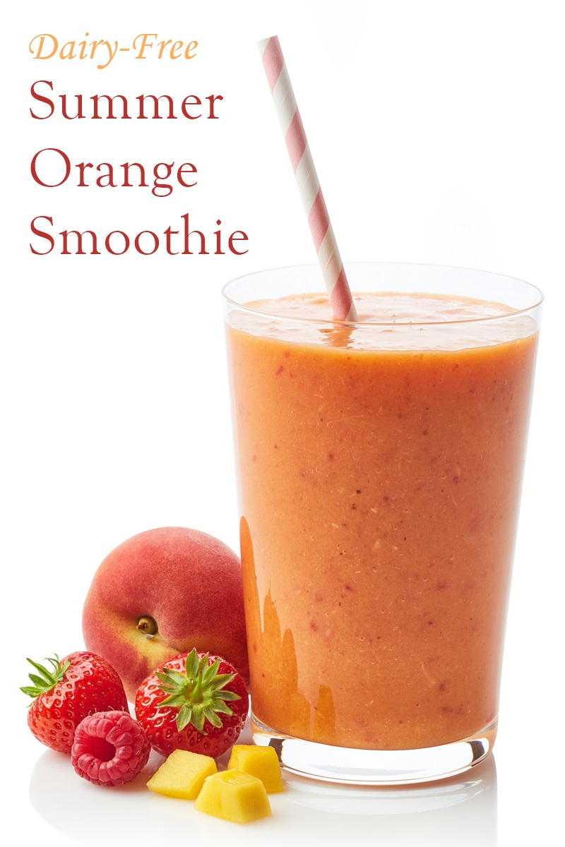 Orange Lotus Smoothie Recipe - A sweet dairy-free, vegan blend for bone health