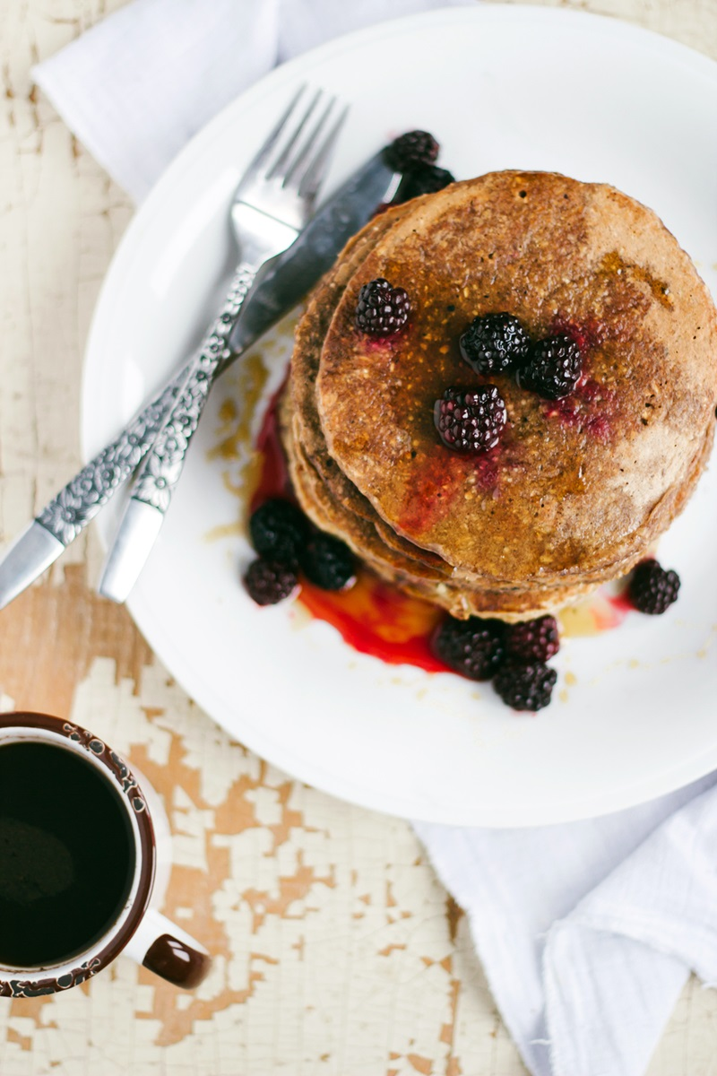 Fluffy Whole Wheat Pancakes Recipe - Dairy-free, Nut-free & High-protein (egg-free & soy-free options)