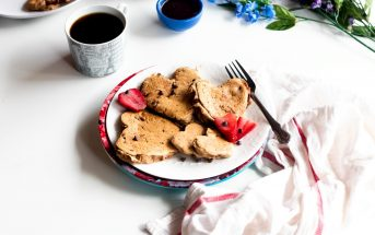 Vegan Chocolate Chip Pancakes with Strawberries Recipe