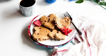 Vegan Chocolate Chip Pancakes with Strawberries Recipe