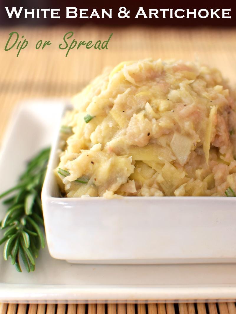 White Bean Artichoke Dip Recipe (vegan, dairy-free, allergy-friendly and healthy!)
