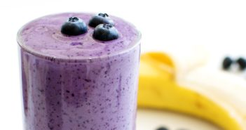 Breakfast Banana Blueberry Smoothie Recipe - dairy-free, plant-based, allergy-friendly, and delicious! A sample from Go Dairy Free The Ultimate Guide and Cookbook