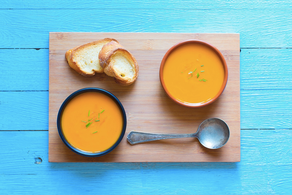 Creamy Butternut Squash Soup - a comforting vegan fall soup