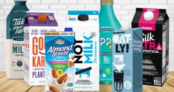 How Much Calcium is in Your Plant Milk? Comparison of over 100 dairy-free brands. Plus info on calcium fortification vs dairy milk.