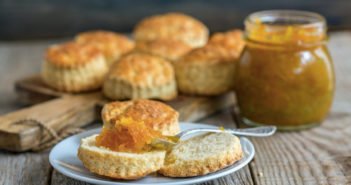Vegan Orange Tea Biscuits - these simple and zesty biscuits are the perfect accompaniment to afternoon tea!