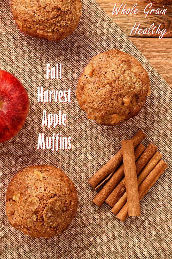 Fall Harvest Apple Muffins Recipe with Whole Grains, Maple, and Spice (Dairy-Free)