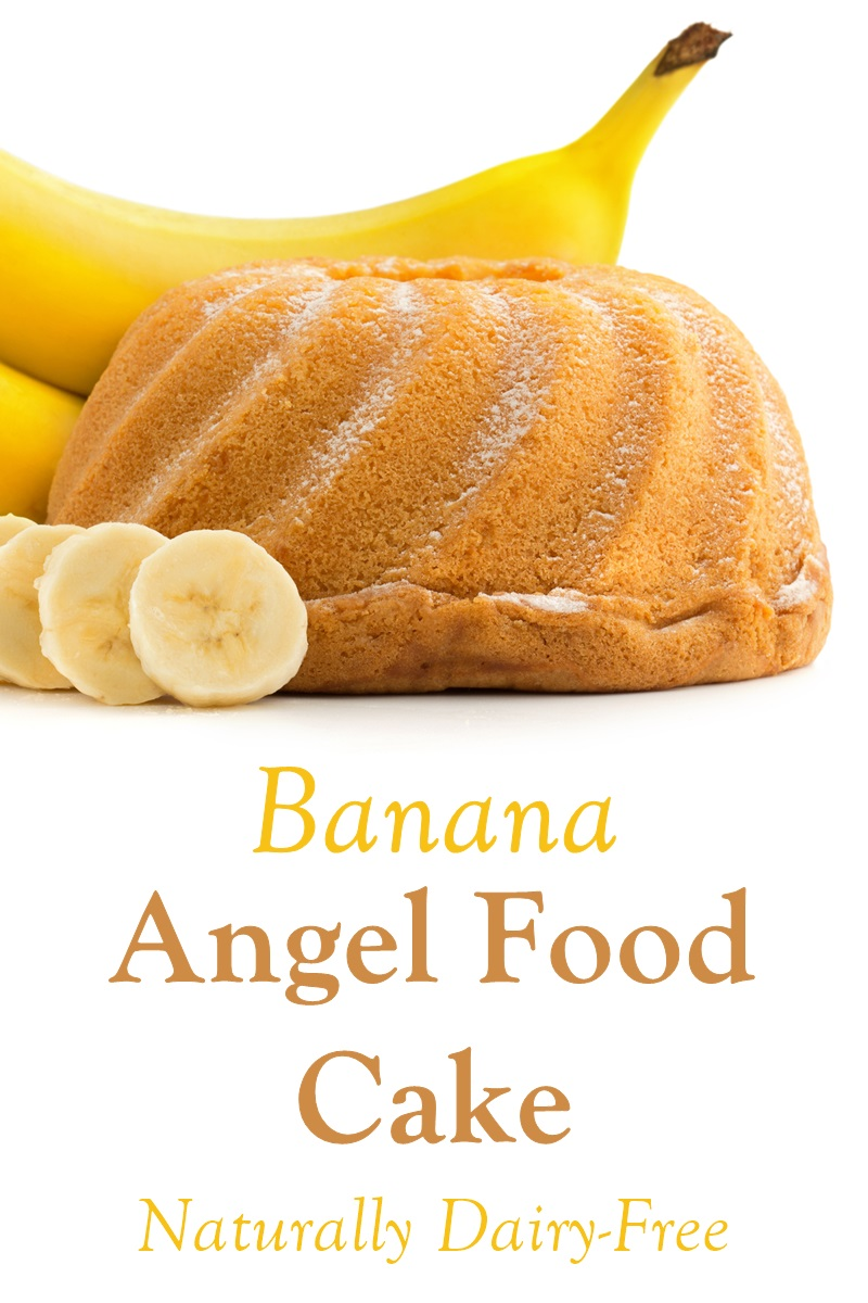 Banana Oat Angel Food Cake Recipe