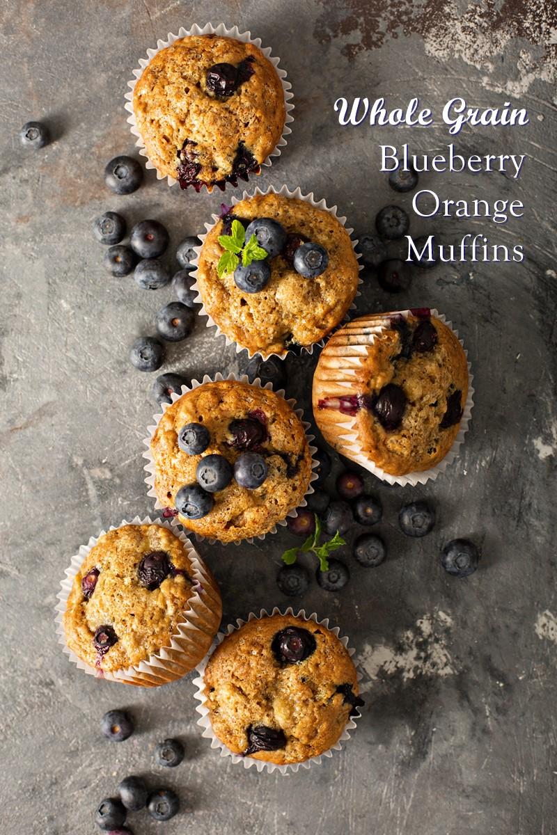 Whole Grain Blueberry Orange Muffins Recipe (Dairy-Free, Nut-Free)