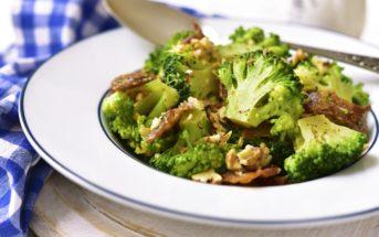 Broccoli Salad with Maple Walnut Vinaigrette Recipe - naturally dairy-free, gluten-free, vegan and easy