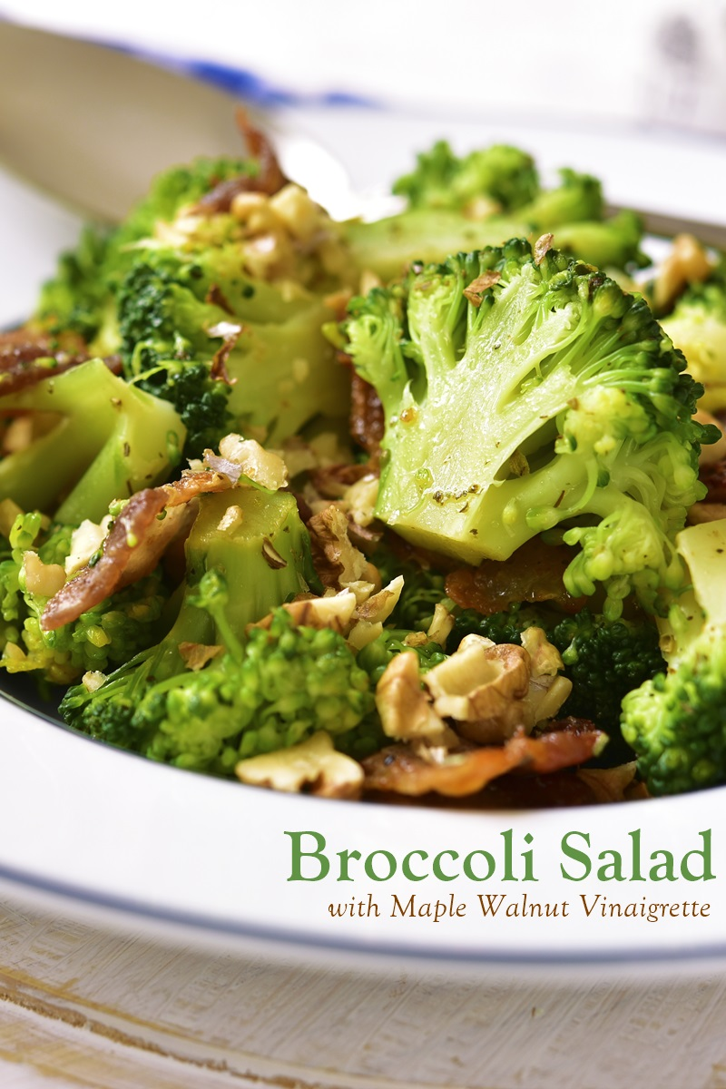 Broccoli Salad with Maple Walnut Vinaigrette Recipe - naturally dairy-free, gluten-free, vegan and easy