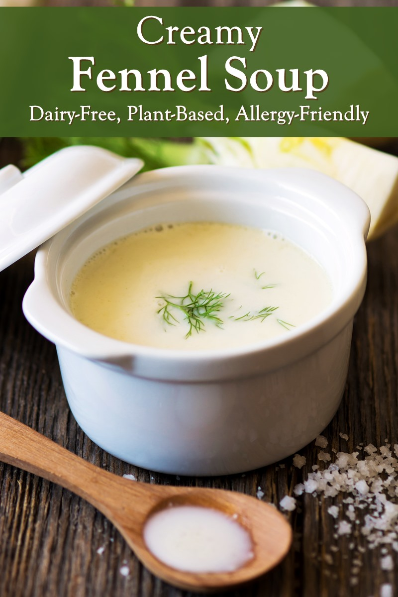 Creamy Fennel Soup Recipe - plant-based, paleo, and food allergy-friendly! Serve it chilled or warm.