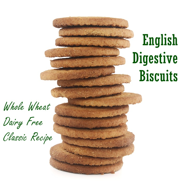 English Digestive Biscuits - A Wholesome, Dairy-Free and Vegan Classic