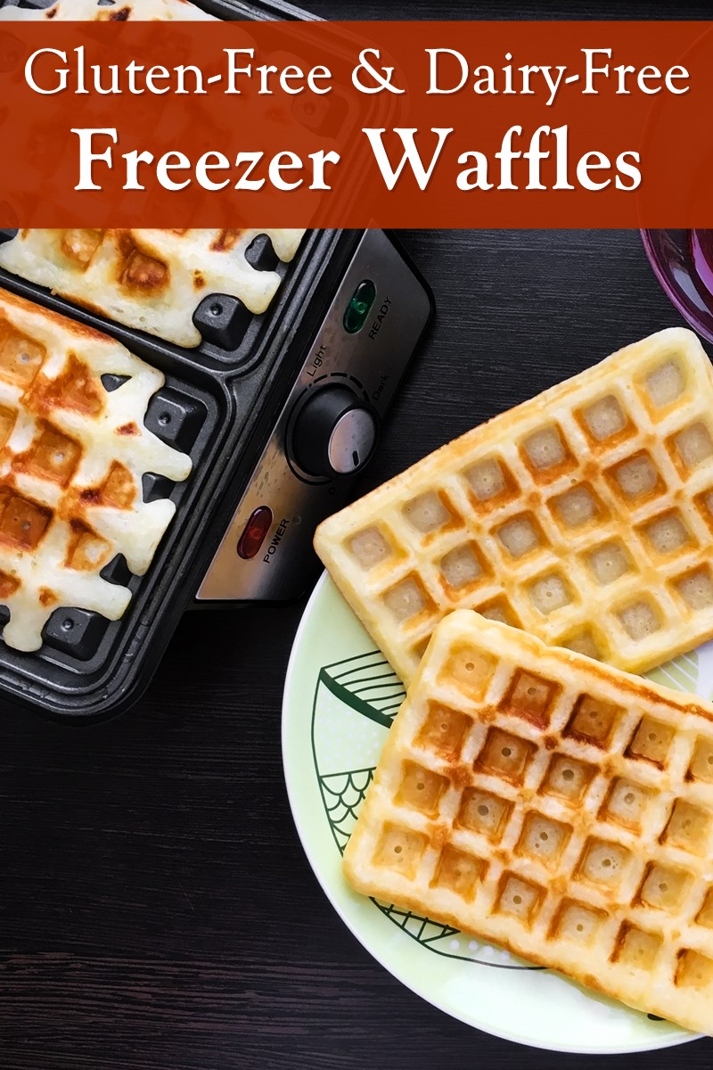 Dairy-Free Gluten-Free Freezer Waffles Recipe - Homemade, easy, delicious, and naturally soy-free and nut-free too