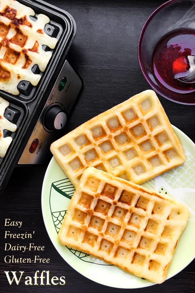 Homemade Dairy-Free & Gluten-Free Freezer Waffles Recipe