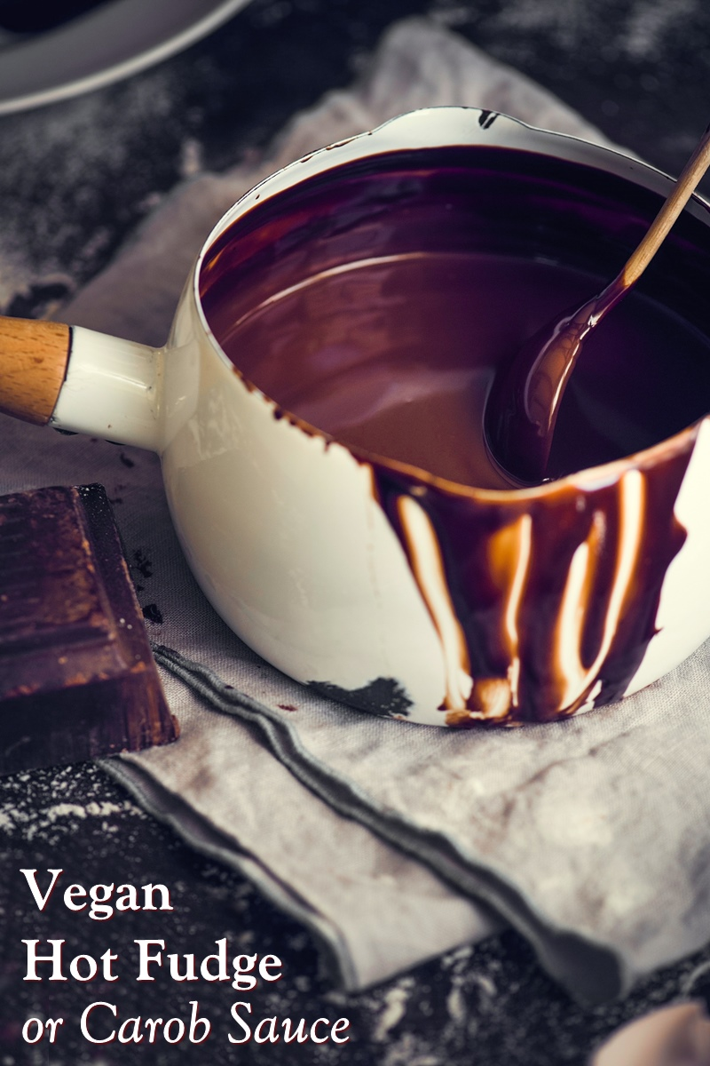 Dairy-Free and Vegan Hot Fudge Sauce Recipe with Carob Option. Also refined sugar-free (sweetened solely with maple syrup)