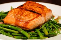 Asian-Style Salmon Recipe with Sweet Teriyaki and Spicy Wasabi Sauces (naturally dairy-free, nut-free & optionally gluten-free)