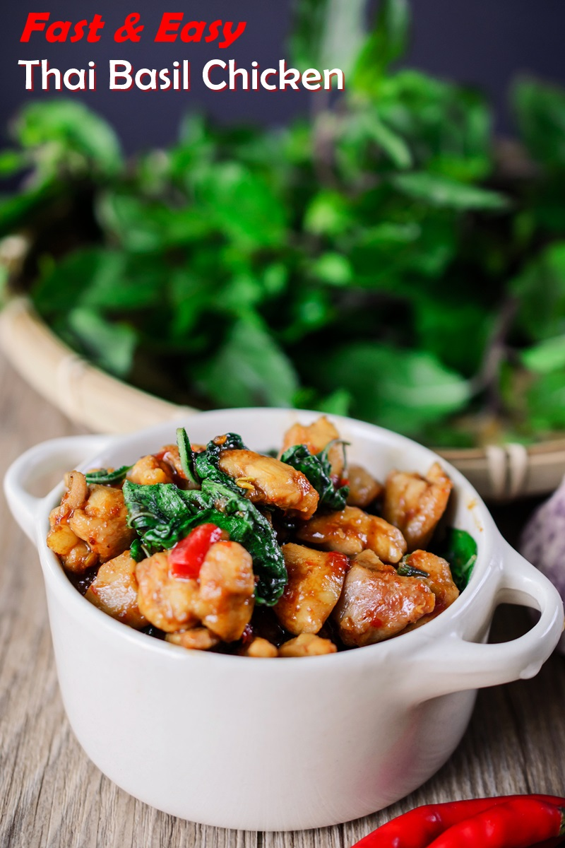 Thai Basil Chicken Recipe - A fast and easy, dairy-free, allergy-friendly meal for weeknights or gatherings