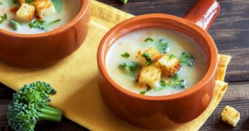 Healthy Dairy-Free Broccoli Cream Soup Recipe (plant-based with vegan option; also naturally gluten-free)