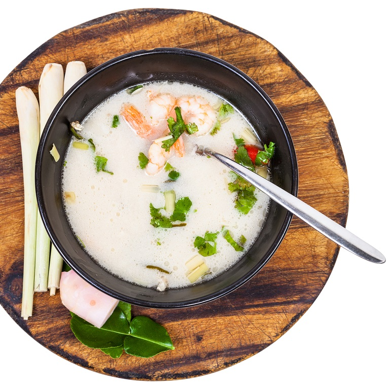 Thai Coconut Soup Recipe for One - Fast, Easy, Flavorful and naturally Dairy Free