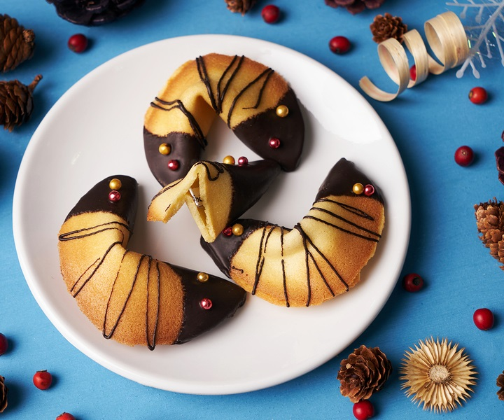 Homemade Fortune Cookies - you're in luck! This special treat is naturally dairy-free and a fun cookie for celebrations