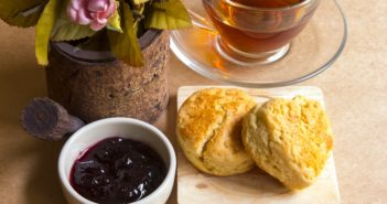 Lemon Tea Biscuits Recipe with optional lemon buttery spread - dairy-free, nut-free, vegan