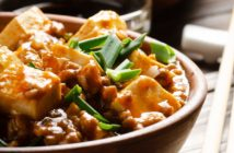 Mapo Tofu Recipe that's Not Authentic, but is Easy and Delicious . Naturally dairy-free and nut-free. Uses everyday, family-friendly ingredients. Not too spicy!
