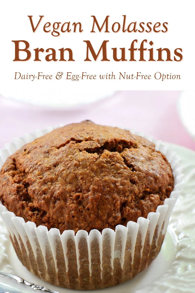 Vegan Molasses Bran Muffins Recipe with a Zest for Healthy Breakfast (dairy-free, egg-free, optionally nut-free)