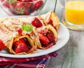 Dairy-Free Crepes with Strawberry-Apple Filling & Fresh Strawberry Sauce