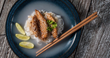 Asian Grilled Chicken with Ginger Lime Soy Sauce - a simple flavorful dinner