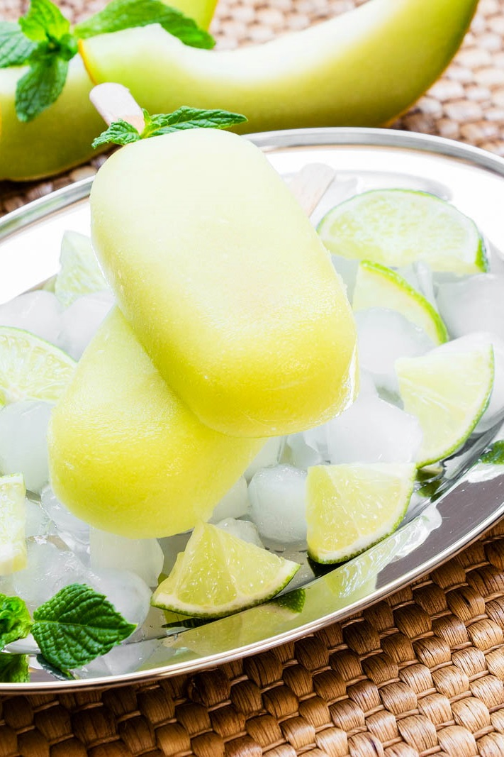 Melon Popsicles Recipe - just 2 ingredients! Easy, sugar-free, dairy-free, vegan, paleo and top food allergen free
