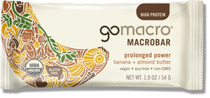 GoMacro Macrobars - wholesome dairy-free vegan bars that are good for you, good for the earth, and seriously delicious!