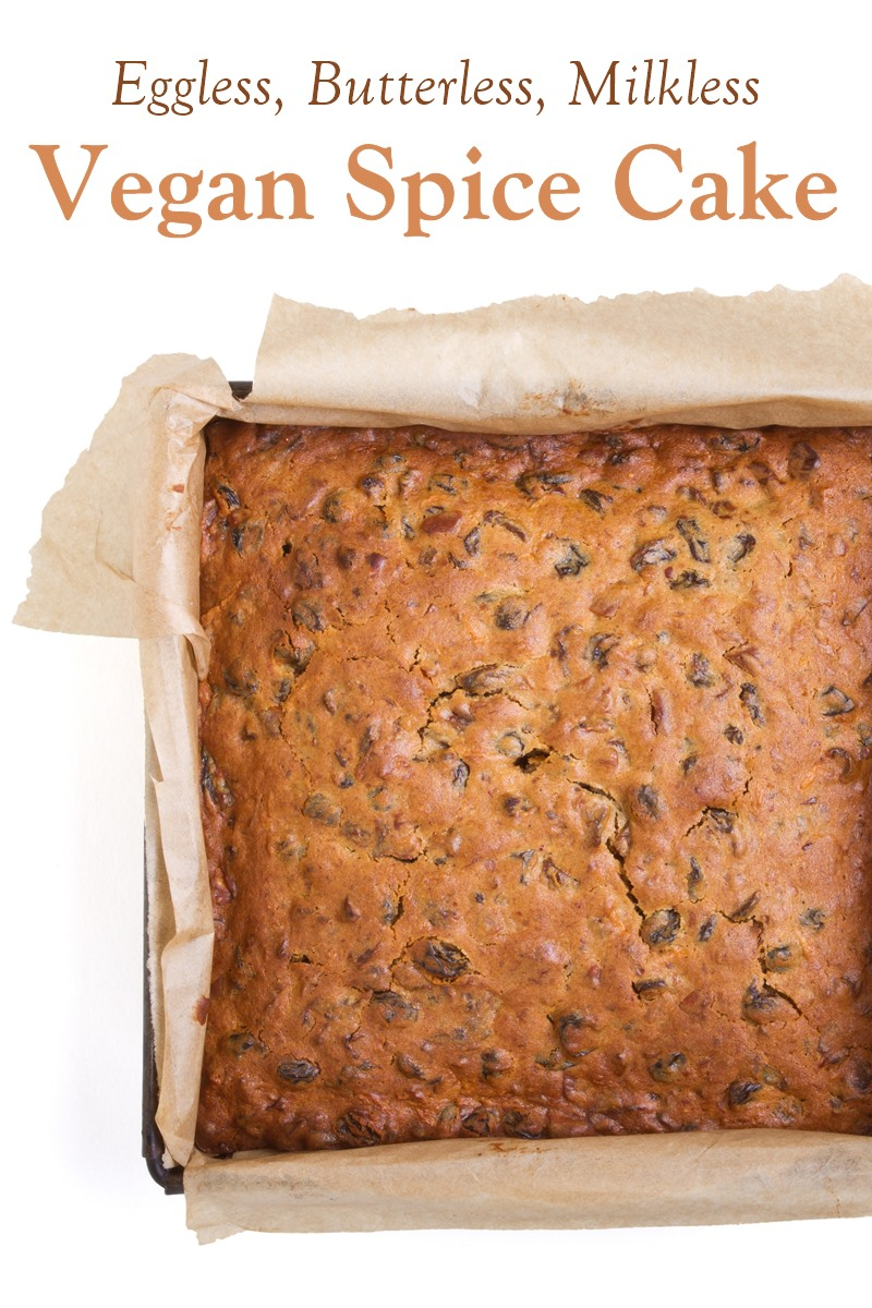 Vegan Spice Cake Recipe that's Butterless, Eggless, and Low Fat