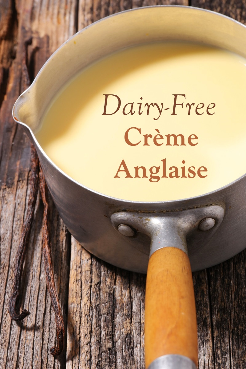 Dairy-Free Crème Anglaise Recipe - a tofu-based vanilla custard sauce that's healthier, vegan, egg-free, and plant-based. A delicious dessert topping.