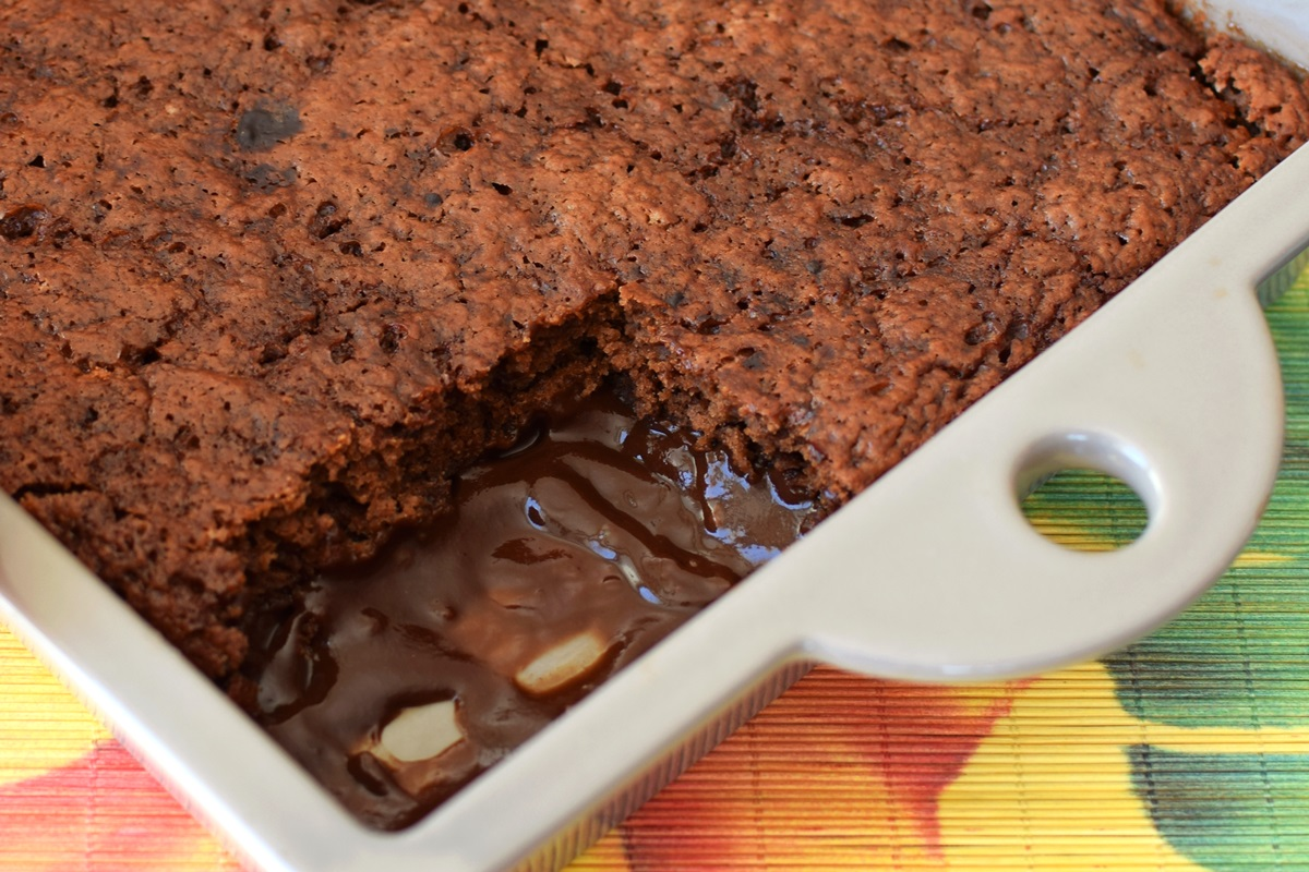 Classic Dairy-Free Chocolate Pudding Cake Recipe - that just happens to be egg-free, nut-free, soy-free and vegan too.