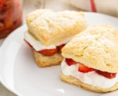 Dairy-Free Strawberry Shortcake Made in a Pan or Roll & Cut Style