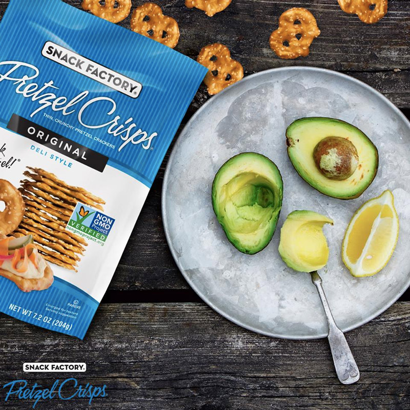 Pretzel Crisps make for such a perfect snack! Especially paired with hummus or guacamole. Available in a variety of dairy-free flavors.