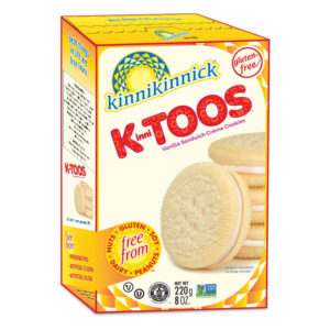 KinniToos Sandwich Creme Cookies Reviews and Information - Dairy-Fee, Gluten-Fee, Nut-Free, and Soy-Free. Pictured: Vanilla