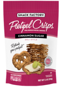 Pretzel Crisps Reviews and Information (Dairy-Free Varieties) - flat pretzels for dipping and snacking in assorted flavors. Gluten-fee options.
