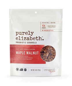 Purely Elizabeth Probiotic Granola Reviews and Info - dairy-free, gluten-free, vegan, heat stable probiotics, and sweetened with coconut sugar - two varieties