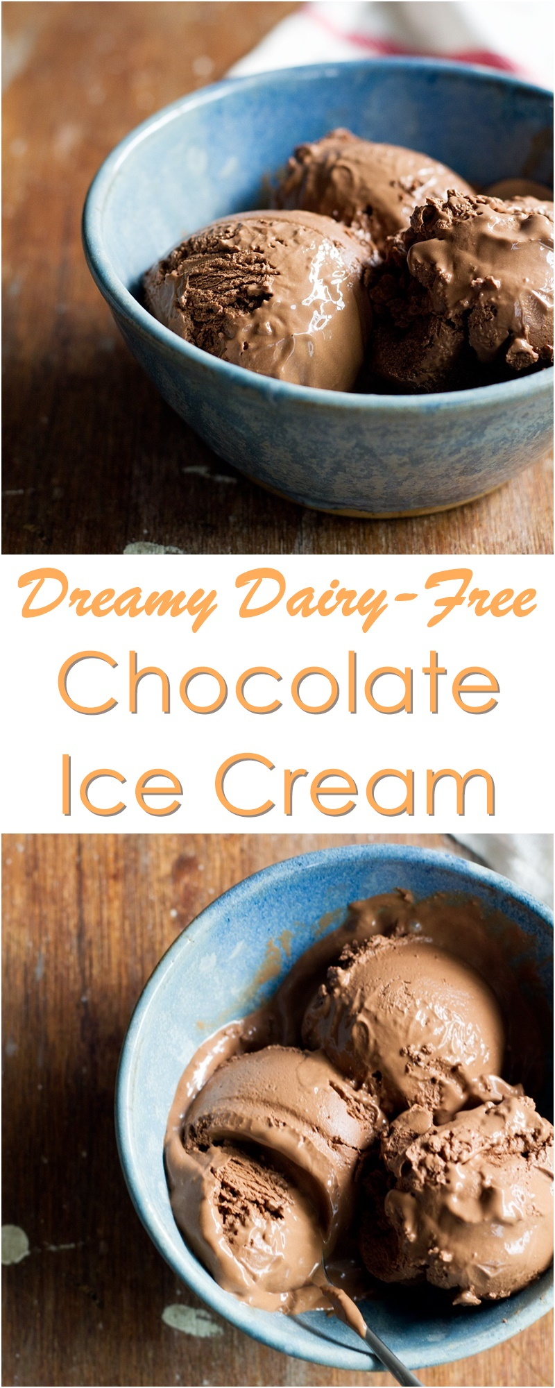 Vegan Chocolate Ice Cream Recipe - Easy, uses everyday dairy-free ingredients and NO coconut!