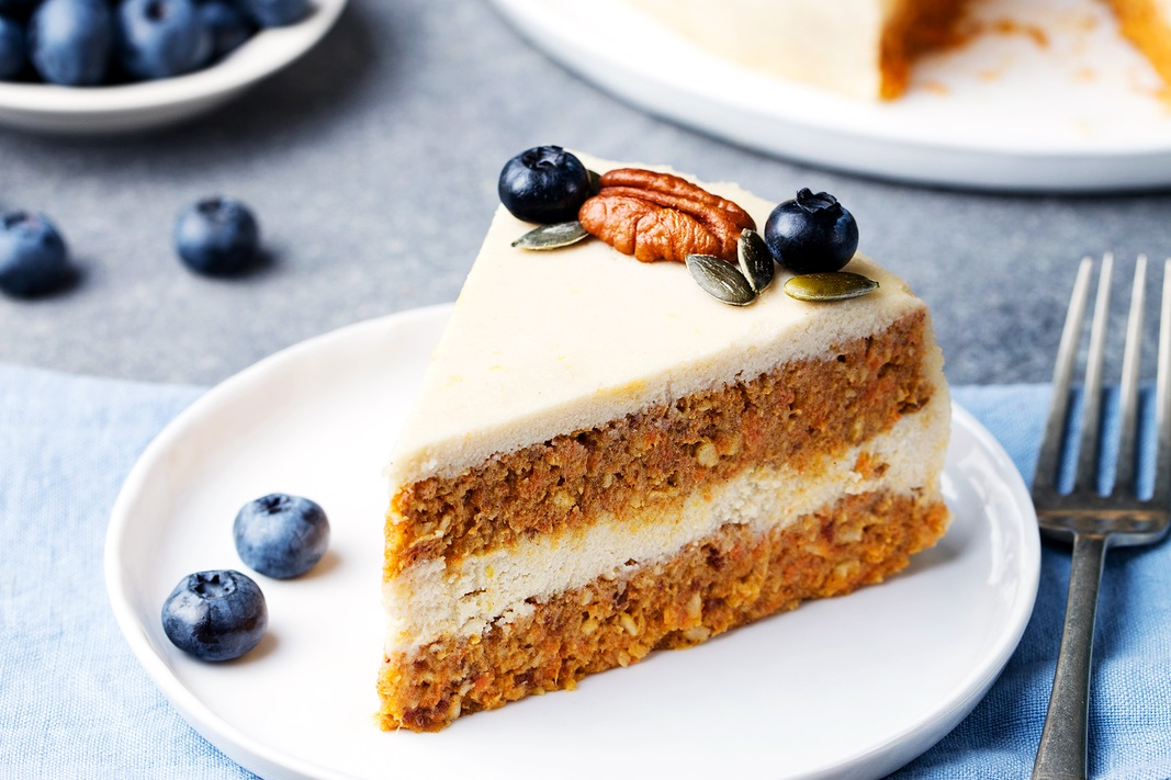 Raw Carrot Cake with Lemon Cashew Frosting Recipe (vegan, dairy-free, gluten-free, grain-free, plant-based and paleo-friendly)