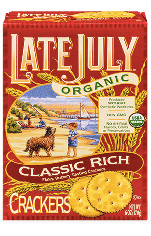 Late July Organic Crackers - dairy-free, vegan, organic, non-gmo crackers that are a perfectly healthy snack!